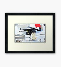 kalashnikov heavy machine gun Framed Print