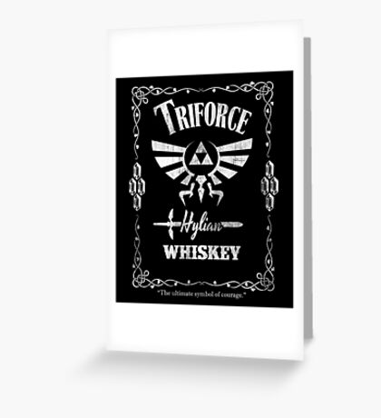 Triforce Whiskey Greeting Card