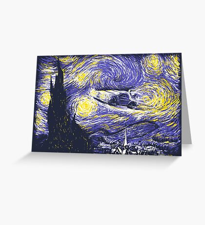 Starry Time Travel Greeting Card