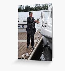 Naming a new boat Greeting Card