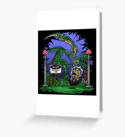 Jurassic Pounce! (Dark Shirts) Greeting Card
