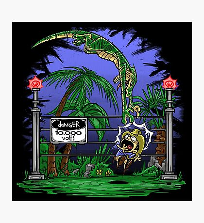 Jurassic Pounce! (Dark Shirts) Photographic Print