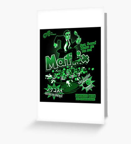 Matrix Cereal (Black Ed) Greeting Card
