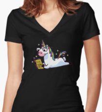 Einhorn glauben an sich magisch fabelhaft Shirt mit V-Ausschnitt