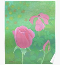 Rising and Fading Roses Poster
