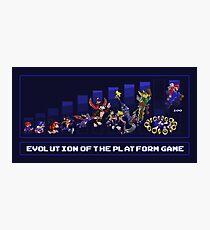 Evolution of the Platform Game Photographic Print