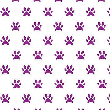 Purple paw prints by mcb-jp