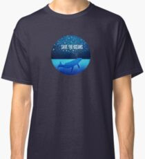 Save the Oceans - Star Spouting Whale Classic T-Shirt