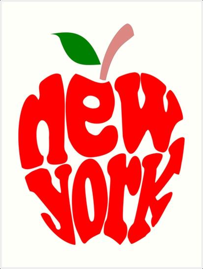 big apple new york art prints by denip redbubble. Black Bedroom Furniture Sets. Home Design Ideas
