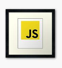 JavaScript EcmaScript Unofficial Logo Sweatshirt Framed Print