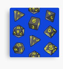 Lienzo Blue Gaming Dice
