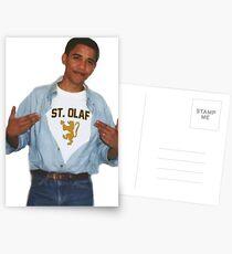 Postales Camisa de Obama St Olaf