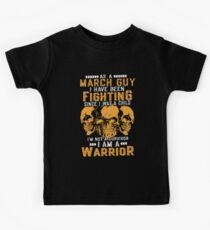 as a march guy I have been fighting viking t-shirts Kids Tee