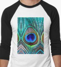 Peacock Feather Men's Baseball ¾ T-Shirt