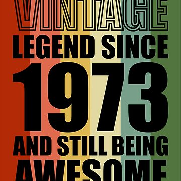 45th Birthday gift Retro Design - VINTAGE 1973 by ontajunior