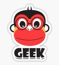 geek monkey Sticker