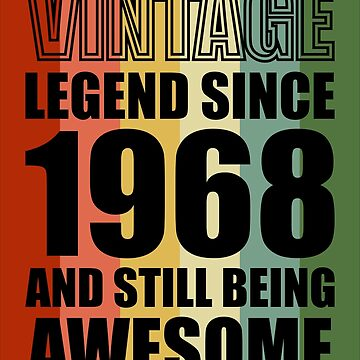 50th Birthday gift Retro Design - VINTAGE 1968 by ontajunior