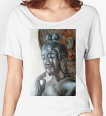 Buddhism sculpture Women's Relaxed Fit T-Shirt