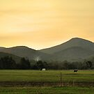 Sunset - Mount St Leonard by John Segon-Fisher,  RPA