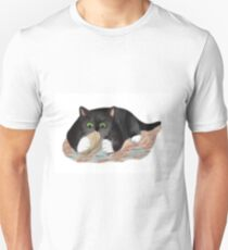 Unhappy Clam at High Tide Clasped by Kitten Unisex T-Shirt