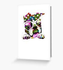 Funny Bulldog For Pet Lovers, I Love My Bulldog Greeting Card
