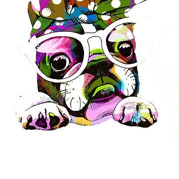 Funny Bulldog For Pet Lovers, I Love My Bulldog by loveteens