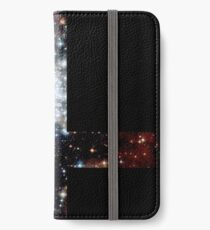 Red Galaxy Inverted Cross iPhone Wallet/Case/Skin