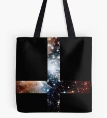 Red Galaxy Inverted Cross Tote Bag