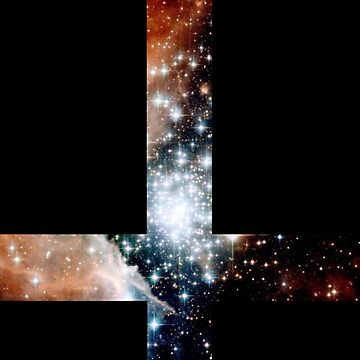 Red Galaxy Inverted Cross by rapplatt