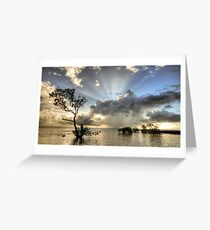 In the deep end. Greeting Card