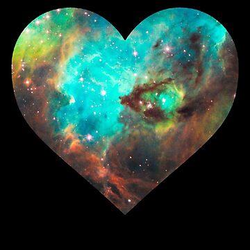 Green Galaxy Heart by rapplatt