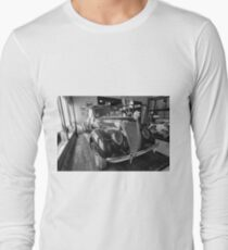 Old car. Black and white photo. Nikon D610 Long Sleeve T-Shirt