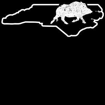 Ferral Hog Calling North Carolina Wild Boar Shirt Wild Pig by shoppzee