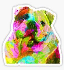 I Love My English Bulldog, Pet Lovers Sticker