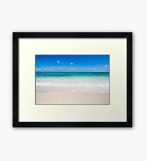 Lámina enmarcada Olas de la playa