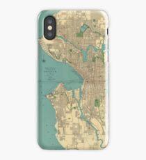 Seattle Vintage Map iPhone Case