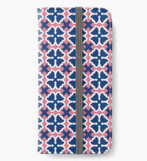 Blue Clover Digital Pattern Design iPhone Wallet/Case/Skin