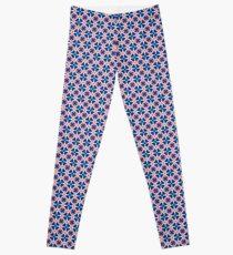 Blue Clover Digital Pattern Design Leggings