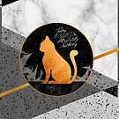 Marble Black Cat  by Pepe Psyche
