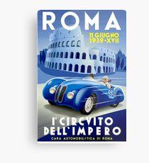 """ROMA VINTAGE GRAND PRIX"" Auto Racing Print Metal Print"