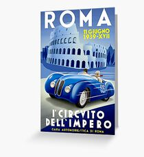 """ROMA VINTAGE GRAND PRIX"" Auto Racing Print Greeting Card"