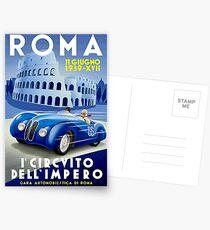 """""""ROMA VINTAGE GRAND PRIX"""" Auto-Renndruck Postkarten"""