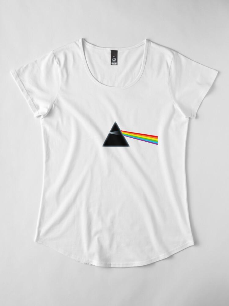 Vista alternativa de Camiseta premium de cuello ancho El lado oscuro de la luna