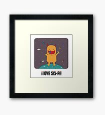 i love sci-fi Framed Print
