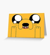 Jake time! - Adventure Time Greeting Card
