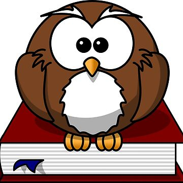 Owl bird book bookworm by Patfu