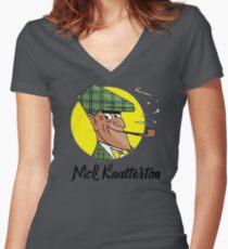 Nick Knatterton german cartoon movie Women's Fitted V-Neck T-Shirt