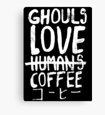 Ghouls love coffee Canvas Print