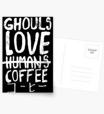 Ghouls love coffee Postcards