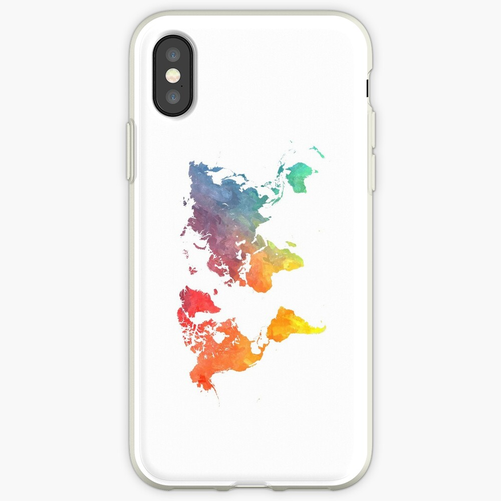 Map of the world colored iPhone Case & Cover